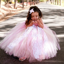 Children clothing Christmas costumes for girls pink Flower girl Dress Gauze Mesh princess dress/Disfraces infantiles princesa