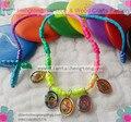 10 шт./лот веревка четки детские девы Гуадалупе bacelet/шнур osary браслет/decenario браслет с религиозными изображения кулон