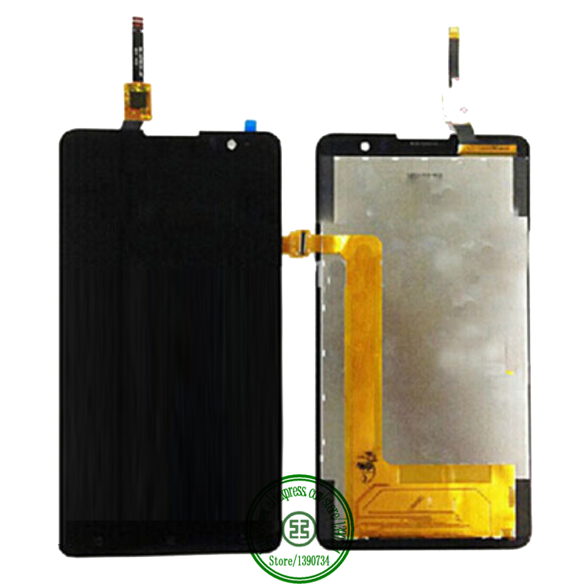 ФОТО TOP Working Full LCD Display + Touch Screen Digitizer Assembly For Lenovo S8 S898T Cell Phone Repair Replacement Black