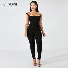 a7495495c Rayon bandagem macacão tendência nova quente 2018 de alta qualidade preto  sem encosto sem mangas das mulheres sexy macacão apert.