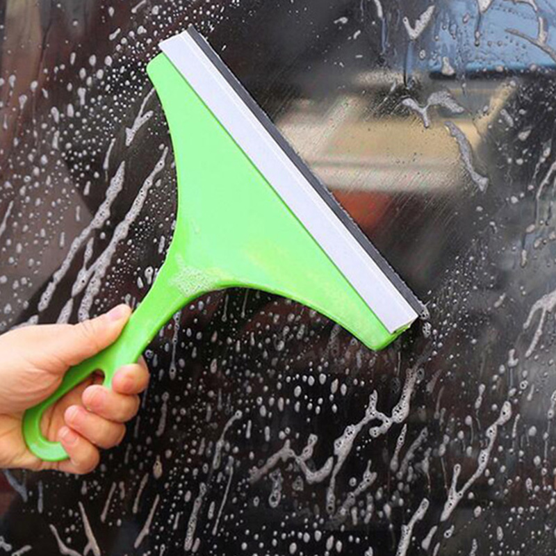 Household Cleaning Brush Window Simple Green Car Glass Window Cleaner Wiper Cleaner Cleaning Tools with Color Random