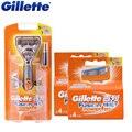 Оригинал Gillette Fusion Power Электрическая Бритва Для Бритья Лезвия 1 Ручка + 9 Лезвия Для Мужчин Борода Бритва