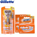 Original gillette energia de fusão elétrica 1 alça + 9 lâmina de barbear lâminas de barbear para homens barbeador barba
