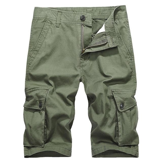 Camo Shorts da Carga Dos Homens 2019 Novos Homens Shorts Casual Masculino Solto Trabalho Shorts Man Militar Calças Curtas Plus Size 28 -38