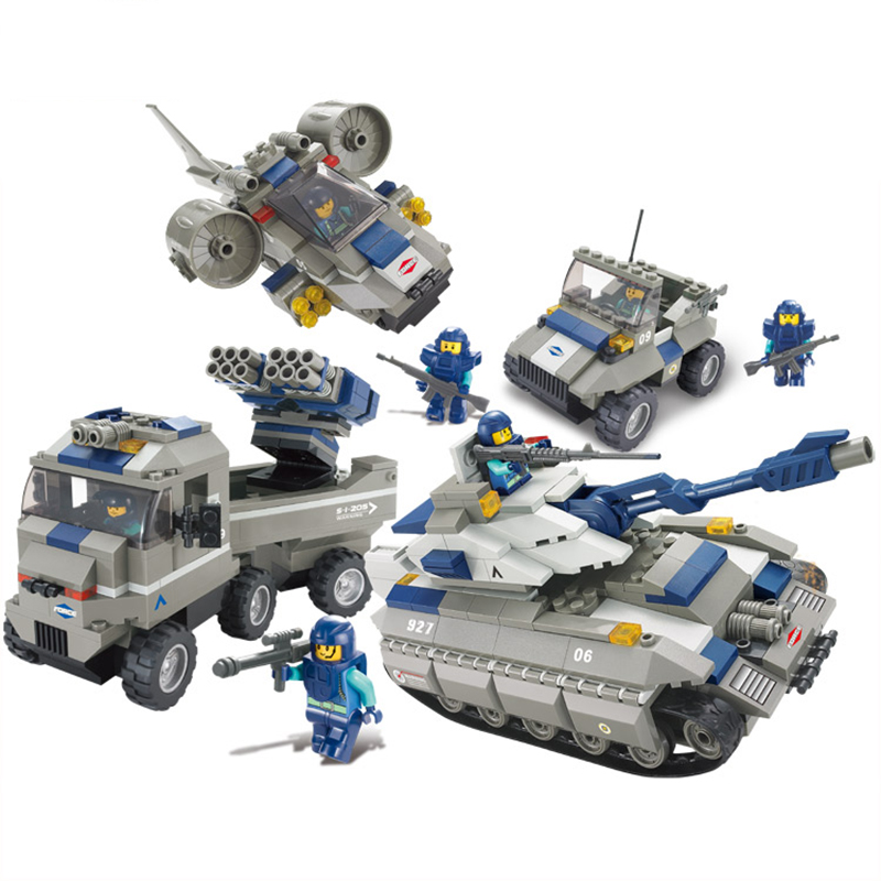 746pcs Military Helicopter Artillery Special force army Building blocks compatible Legoings soldier figures bricks children toys стоимость