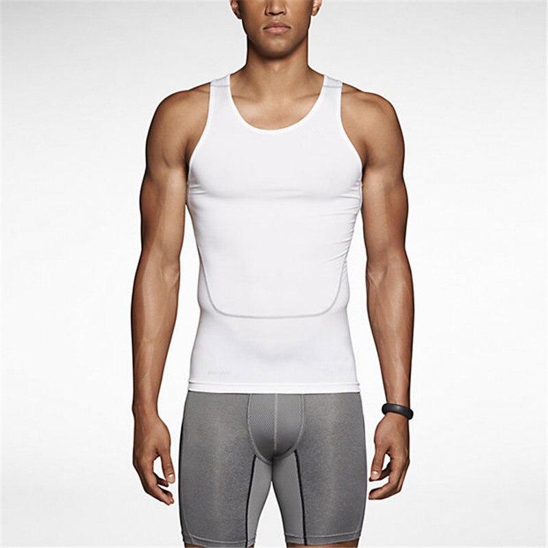 LANBAOSI Tank Top Men Compression Underwear Breathable Quick Dry Tshirt Sleeveless Tank Tops Men cloths 2018 T shirt camiseta