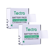 Tectra 2PCS Li Ion Camera BATTERY SJCAM SJ4000 For SJCAM Series M10 SJ4000 SJ5000 Series Sport