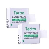 Tectra 2PCS Li Ion Camera BATTERY SJCAM SJ4000 For SJCAM Series M10 SJ4000 SJ5000 Series Sport