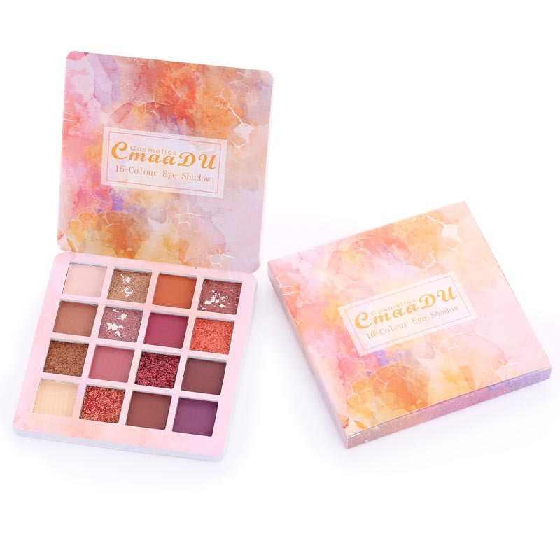 1PC 16 couleur/ensemble professionnel mat fard à paupières Palette longue durée imperméable ombre à paupières naturel maquillage des yeux Palette cosmétique TSLM2