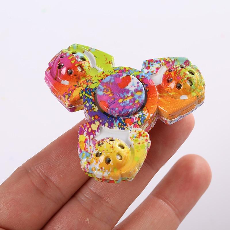 Colorful Metal Fidget Spinner Tri Hand Spinner Ceramic EDC Finger Focus Fidget Toy Children Gift