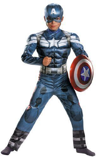 Captain America Winter Soldier Reversible Costume Avengers Child Cosplay HALLOWEEN PARTY CARNIVAL SUPPLY Kids Superhero Costume