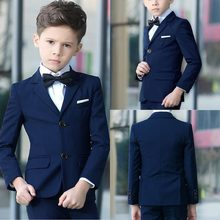 new wedding suits for Boys' Suit shawl lapel boys mens suits two piece Boy's Formal Wear slim fit two button jacket+pants+tie(China)