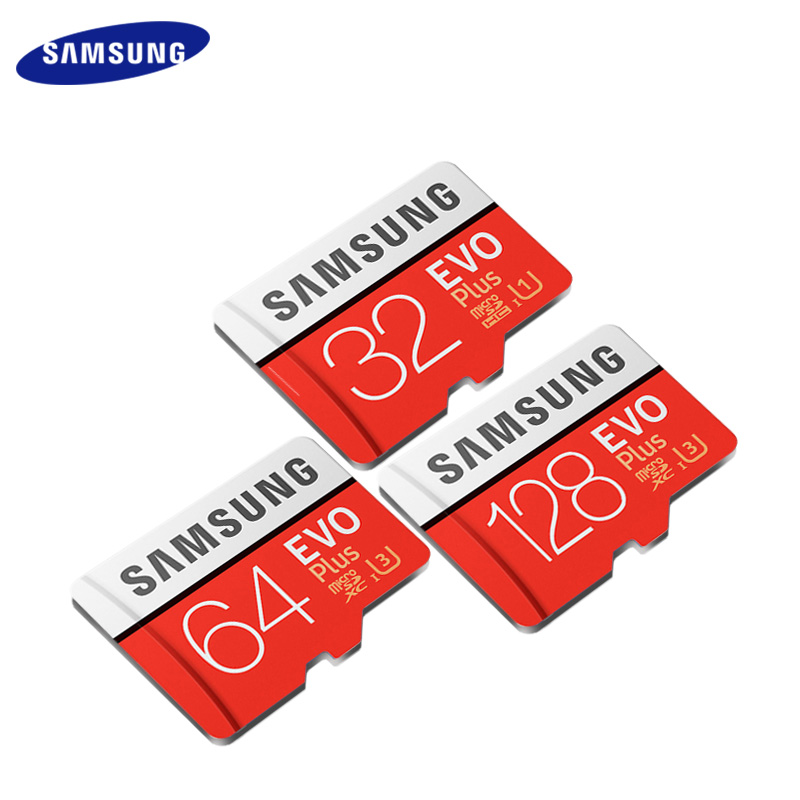 Original SAMSUNG Grade EVO Plus Class 10 Micro SD Card 128GB 64GB 32GB TF Card SDHC SDXC UHS 1 Memory Card Trans Flash Card-in Micro SD Cards from Computer & Office