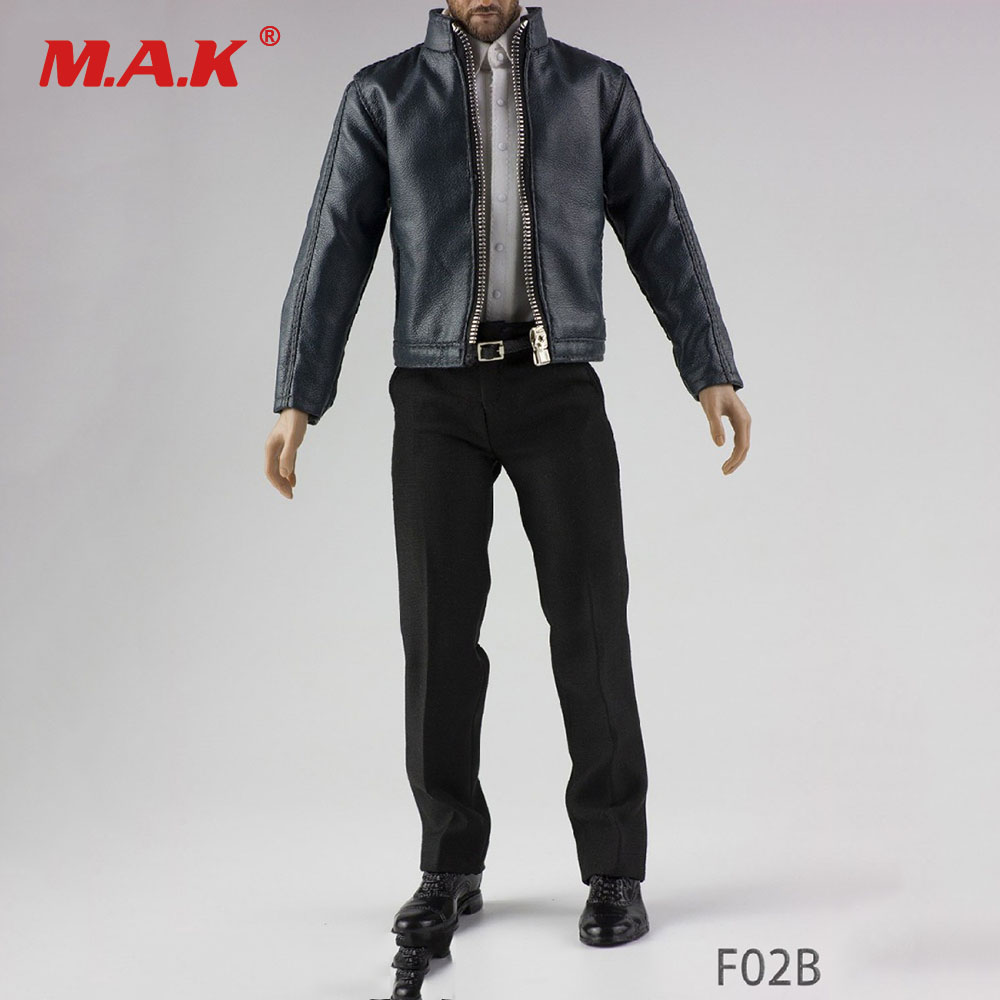 F02A/B 1/6 Male Clothes Black/Dark Green Leather Jacket Set&Shoes Motorcycle Coat Clothing Suit for 12 Man Action Figure BodyF02A/B 1/6 Male Clothes Black/Dark Green Leather Jacket Set&Shoes Motorcycle Coat Clothing Suit for 12 Man Action Figure Body
