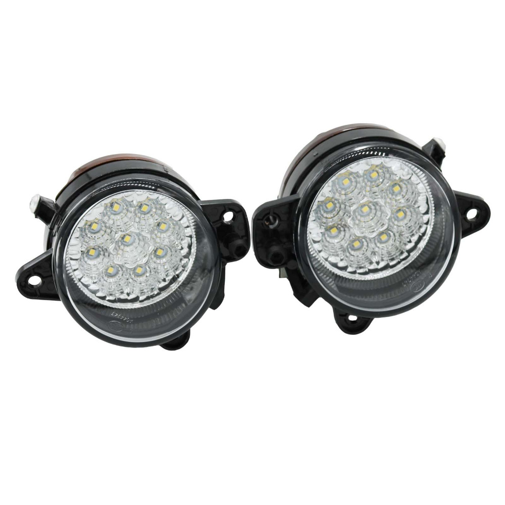 2Pcs LED Light For VW Polo 2005 2006 2007 2008 2009 2010 Car-Styling Front Bumper 9 LED DRL Fog Light Fog Lamp motocross dirt bike enduro off road wheel rim spoke shrouds skins covers for yamaha yzf r6 2005 2006 2007 2008 2009 2010 2011 20