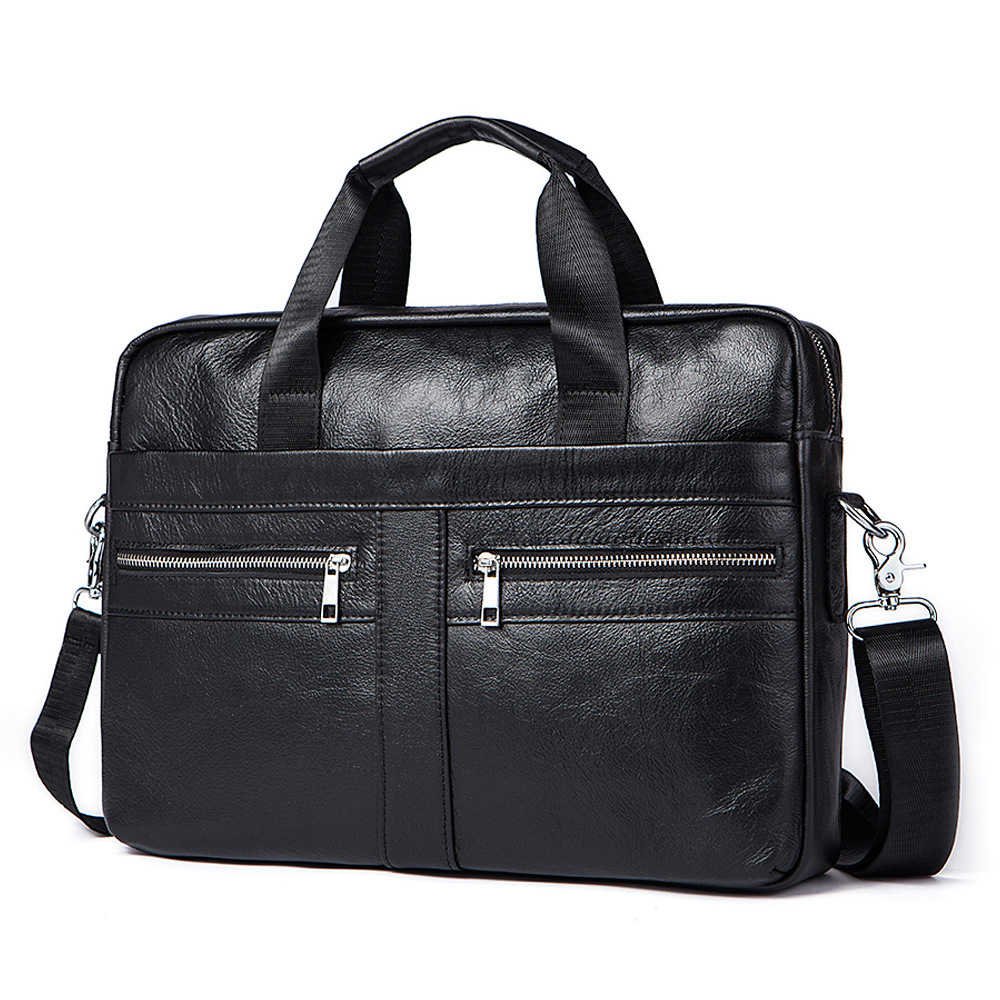 Genuine Leather Business Briefcase Handbag Vintage Men men shoulder Crossbody bags High Quality Laptop Bag Male Leisure bags new high quality male leather men laptop briefcase bag 14 inch computer bags handbag business bag single shoulder business bags