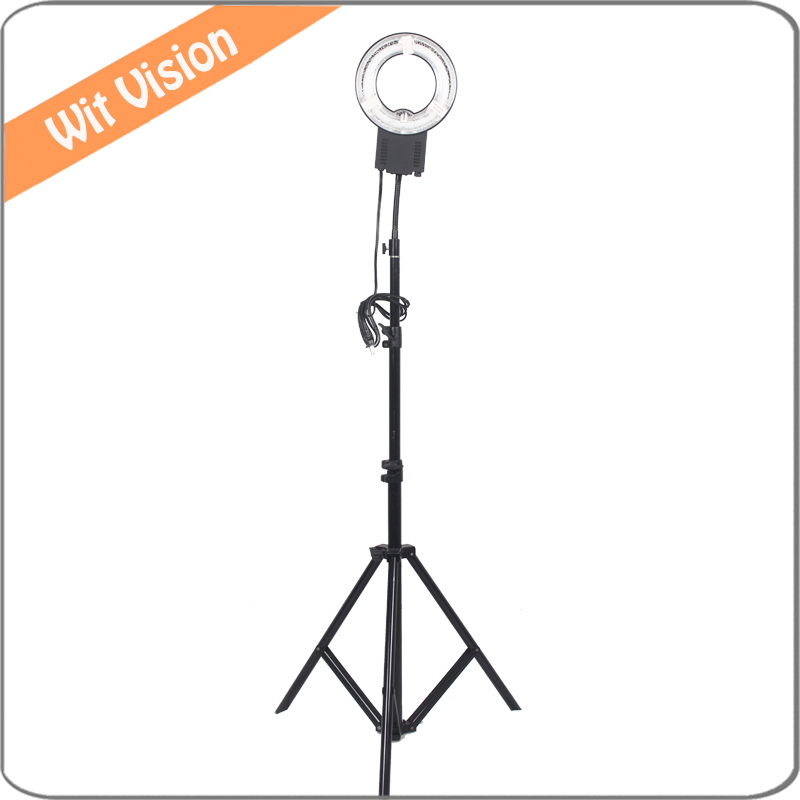 22W 5400K Ring Lamp Light 200CM Stand for Small Objects Shooting Portrait Make up Lighting