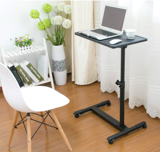 Simple steel lazy table and  folding laptop computer desk 250309 folding mobile small desk home bed with simple desk paint steel pipe humanized design lazy bedside laptop desk