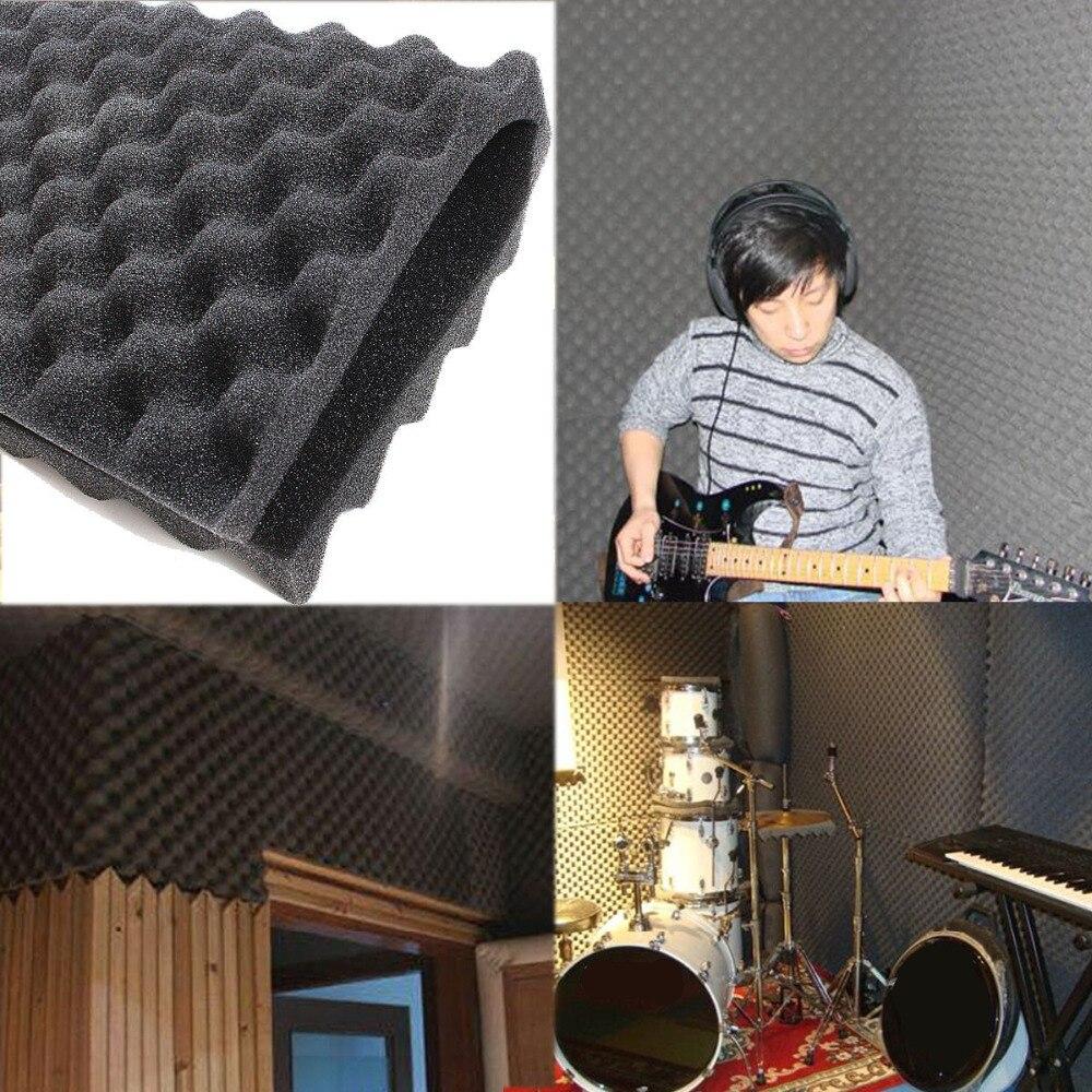 4 Pcs Schallschutz Akustische Schaum Behandlung Sound-absorbierende Baumwolle Lärm Schwamm Sound Isolierung 50x50 Cm Dicke 1,5 Cm Hell Und Durchscheinend Im Aussehen Heimwerker