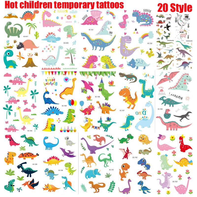 5pcs/lot Jurassic Dinosaurs Tattoo Stickers Children Birthday's Gift Fake Tattoo Kids Tatuajes Body Waterproof Temporary Tattoo