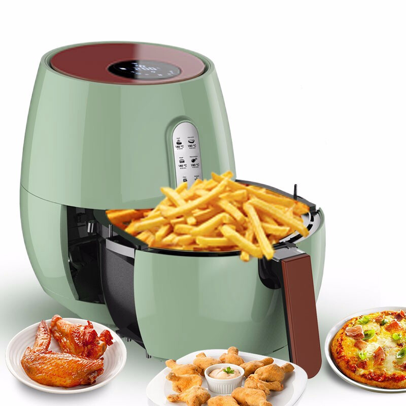 2Air fryer3.5L Family multi-functional oil-free frying pan APP remote controlTouch screenLarge capacity fries machine,intelligen