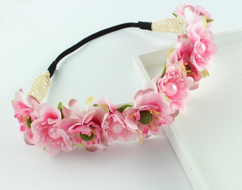Hair Flower Garland Ivory White Wreath Crown Floral Festival Hippy Hipster Bride