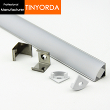 Tinyorda 1000Pcs (1M Length) Led Channel Led Profile Housing for 11mm LED Strip Light Professional ManufacturerTAP1616