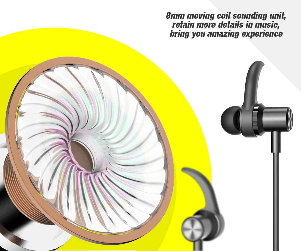DACOM L15 Bluetooth 5.0 słuchawki sportowe bezprzewodowe słuchawki stereofoniczny zestaw słuchawkowy Bluetooth z mikrofonem magnetyczne douszne dla iPhone Huawei
