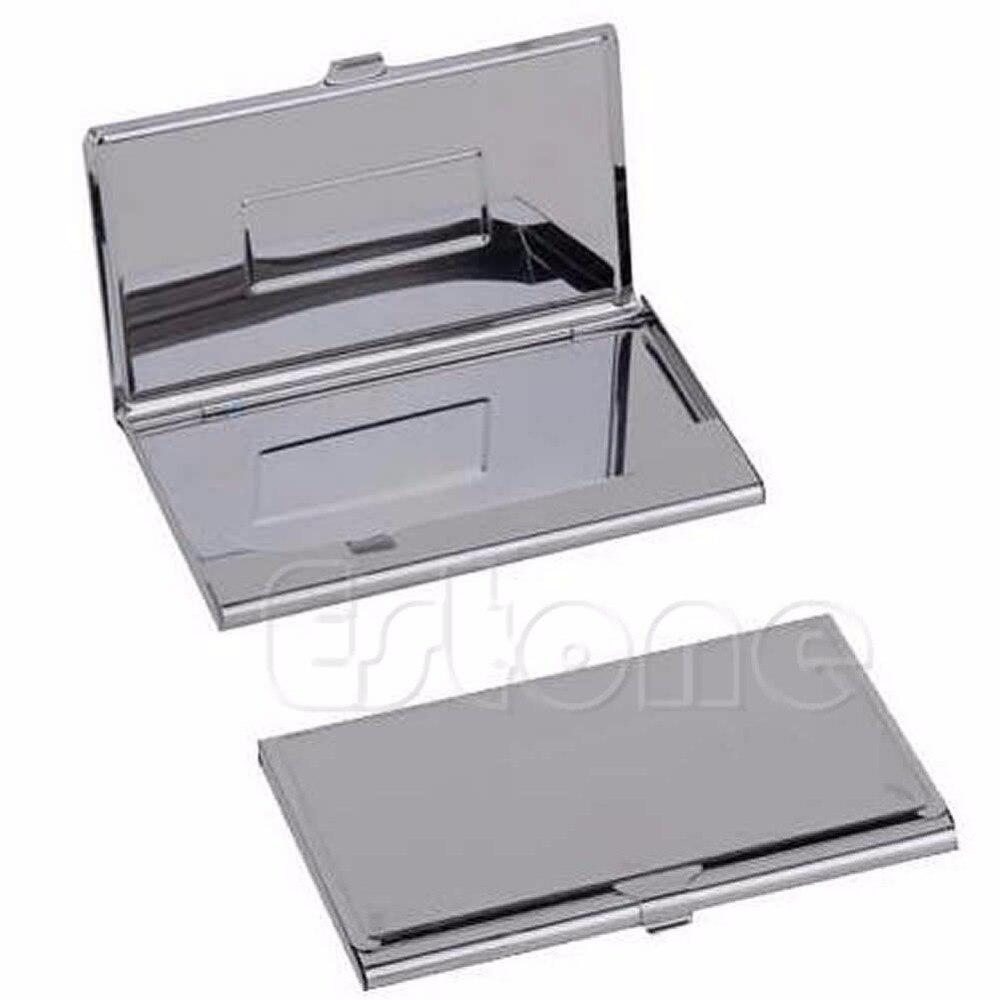 Держатель для банковских карт из нержавеющей стали, металлический Карманный чехол серебристого цвета в форме багажника, повседневный одно...