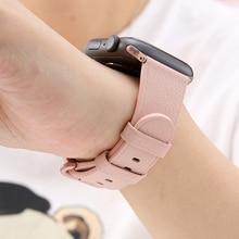 цена на Leather strap For Apple watch band 4 3 44mm 40mm watchband iwatch 42mm 38mm correa wrist bracelet series 4 3 2 1 accessories