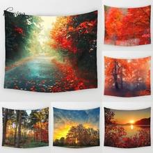 Primavera árbol arte del tapiz cortinas caen las hojas nature tapiz tapiz tapiz tapiz paisaje impresión toallas de playa