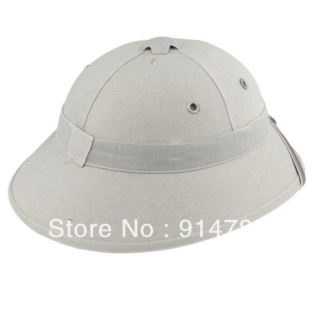 VIETNAM WAR ARMY HAT NVA VIETCONG VC PITH HELMET GRAY-33662