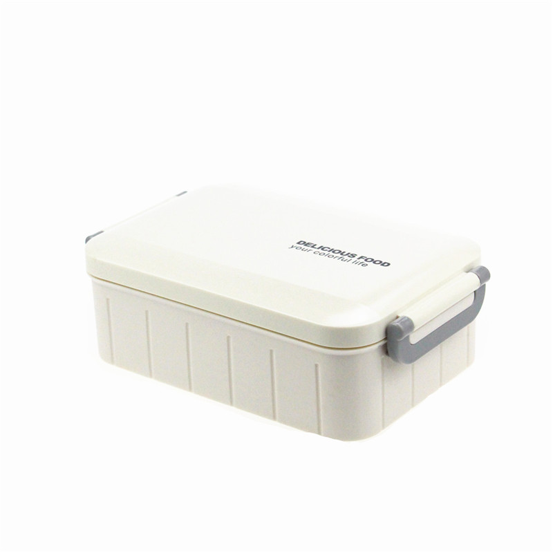 Japanese style Plastic Bento Lunch Box Food Storage Containers with spoon Microwave and Dishwasher Safe Outdoor
