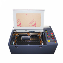 Free delivery 50W color touch panel mini craft laser cutting machine  HF3040 co2 50w automatic fabric