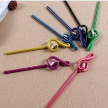 100 точилка канцтовары оптом музыкальный карандаш Скрипичный Ключ форма карандаша разноцветные смешанные деревянные карандаши