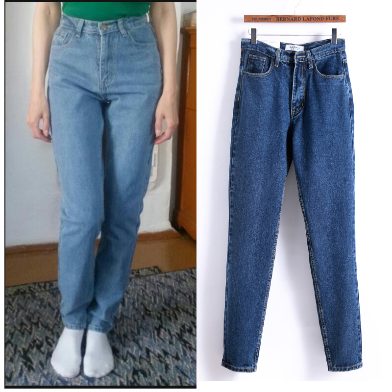 2017 Brand New Autumn And Winter Retro Woman 39 S Jeans Fashion High Waist Comfortable Boyfriend