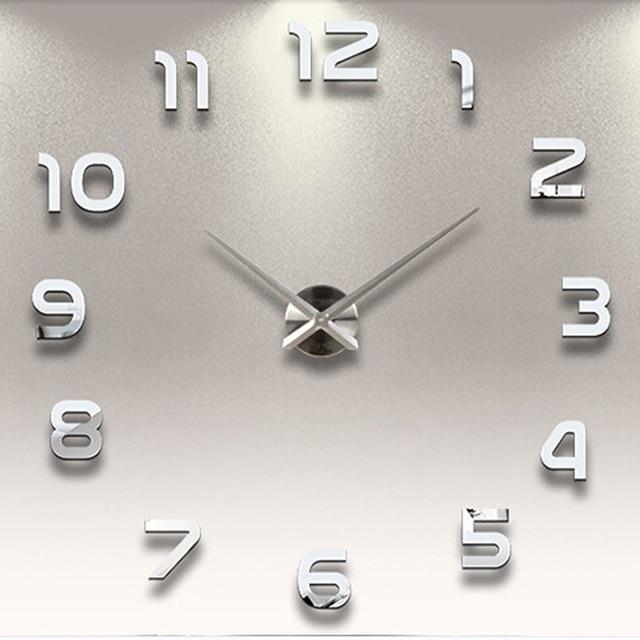 Diy reloj de pared decoraci n para el hogar silent reloj - Reloj de pared para cocina ...