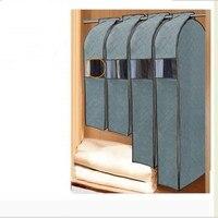 Large Capacity Cloth Hanging Suit Coat Dust Cover Wedding Dress Hanging Bags Organizer Storage Bag Wardrobe