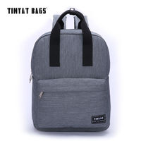 TINYAT Men School Backpack Student Computer Canvas Teenager Middle Schoolbag Women Casual Travel Bag Black Gray