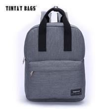 TINYAT Men Canvas Casual School Bags Backpack Male Computer Laptop Student Backpack Teenagers Leisure Travel Bag