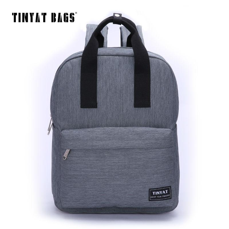 TINYAT Men Canvas Casual School Bags font b Backpack b font Male Computer font b Laptop