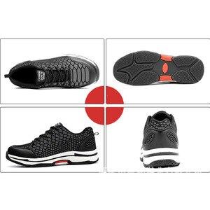 Image 4 - Mens de mode Lumineux en acier orteil couvre de travail chaussures de sécurité respirant Deodoran anti crevaison outillage bas bottes protéger chaussures