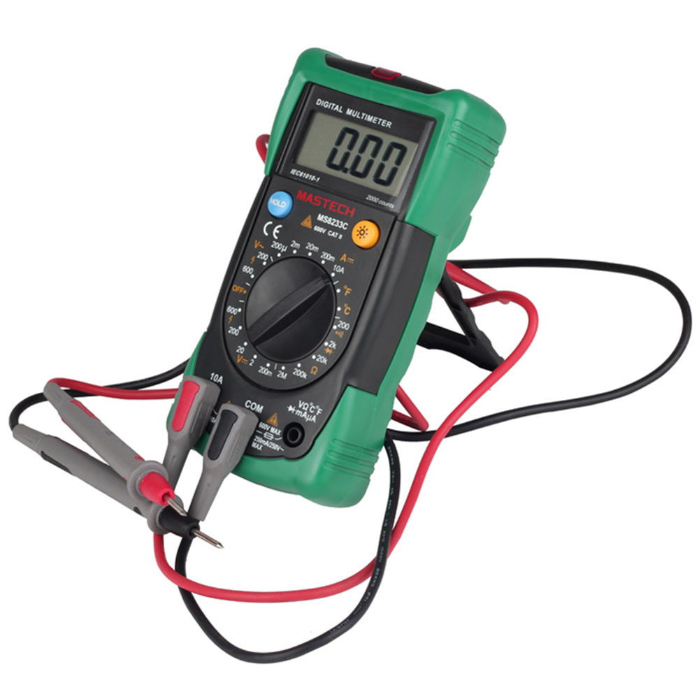Mastech MS8233C Digital Multimeter DMM Meter AC/DC Voltage Current Ohm Meter With Temperature Diode Continuity Tester все цены