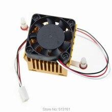 10pcs DIY Northbridge Golden Cooling Fan Heat sinks Aluminum Cooler Heatsink