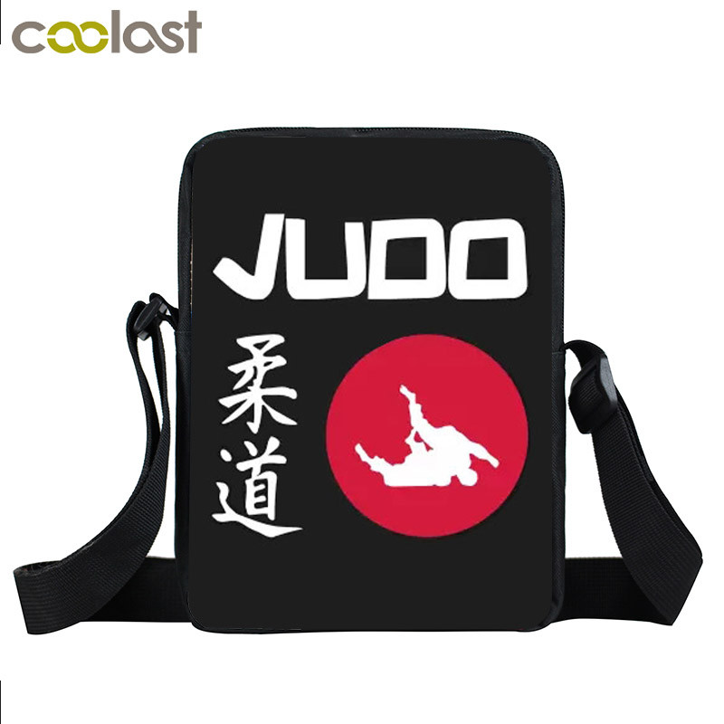 Cool Martial Art Judo / Taekwondo / Karate / Aikido Mini Messenger Bag Boys Crossbody Bags Kids Cobra Kai Bag Children Book Bags retro double big ben pattern protective plastic case for iphone 4 4s brown beige