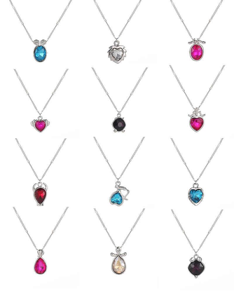 Constellations pendentifs collier scorpion balance verseau femmes CZ collier Gemini poissons bijoux à breloques pour femme