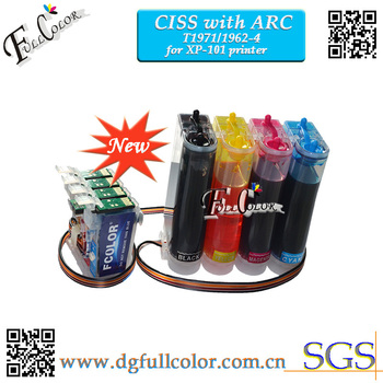 For T1971 CISS Ink System With ARC CHIP for xp101 Printer CISS T1971 T1962 T1963 T1964
