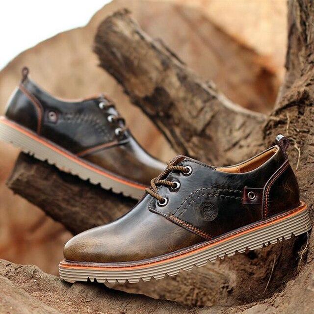 a7b11c1563de30 Brand New Men Casual Leather Shoes For Lumberjack Men Cow Split Waterproof  Anti-slip Work Shoes Wear-resisting Derbies Shoes