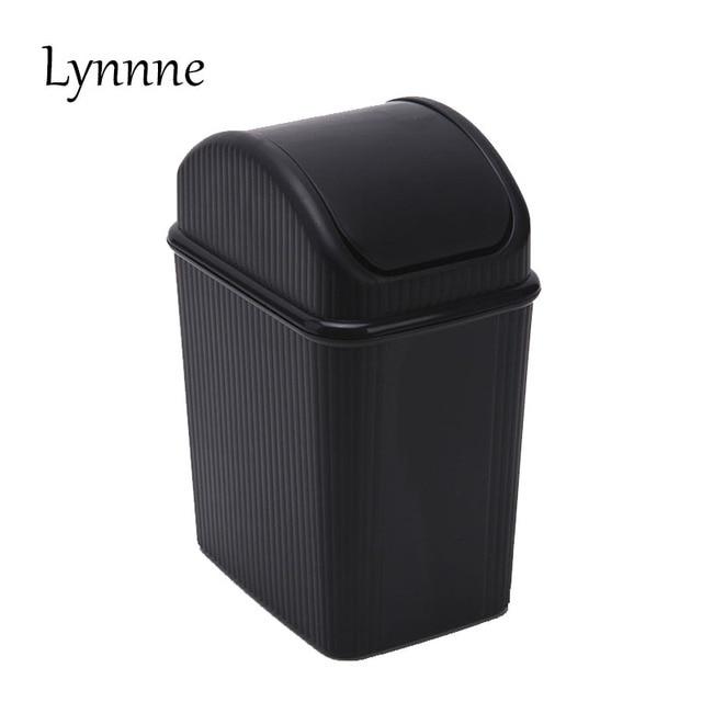 Buy lynnne desk wastebasket plastic garbage bucket waste bin household garbage - Covered wastebasket ...