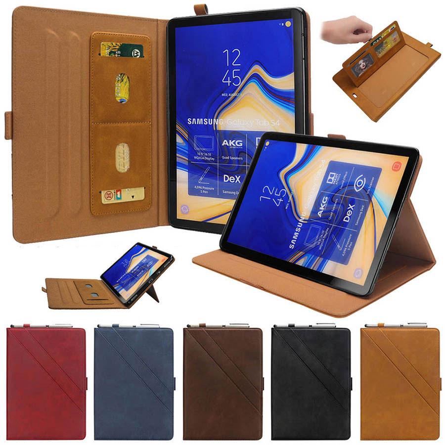 Caso para Samsung Galaxy S4 10.5 SM T830 T835 Couro PU Tablet Smart Cover Auto Sono Wake Cartão Slots Kickstand fique Folio Caso